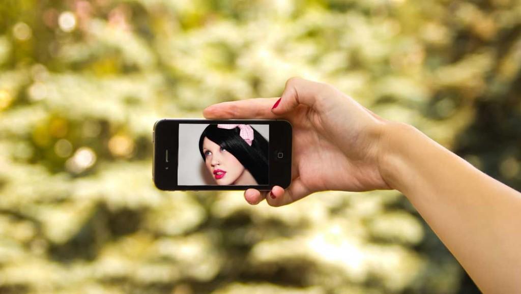Selfie für die ideale Schönheit